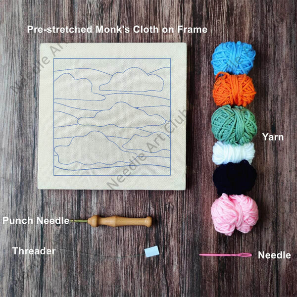 Floating Clouds Punch Needle Kit