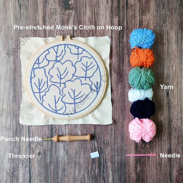 Colorful Trees Punch Needle Kit