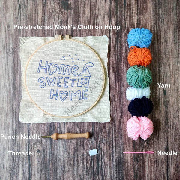 Home Sweet Home Punch Needle Kit