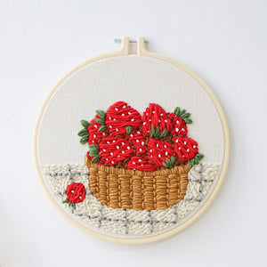 Strawberry Basket Punch Needle Kit