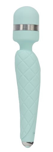 Pillow Talk Cheeky Wand Vibe W-swarovski Crystal Teal - iVenuss