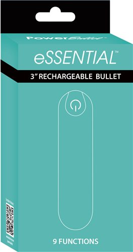 Power Bullet Essential 3.5in Rechargeable Teal - iVenuss