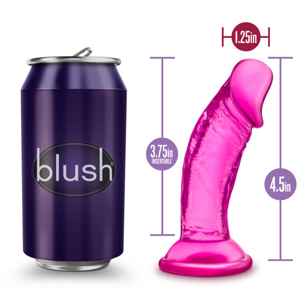 B Yours Sweet N Small 4in Dildo W- Suction Cup Pink - iVenuss