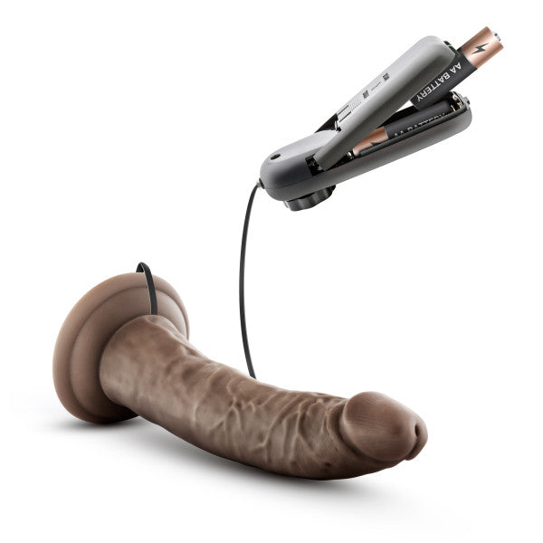 Dr. Skin Dr. Dave 7in Vibrating Cock W- Suction Cup Chocolate - iVenuss