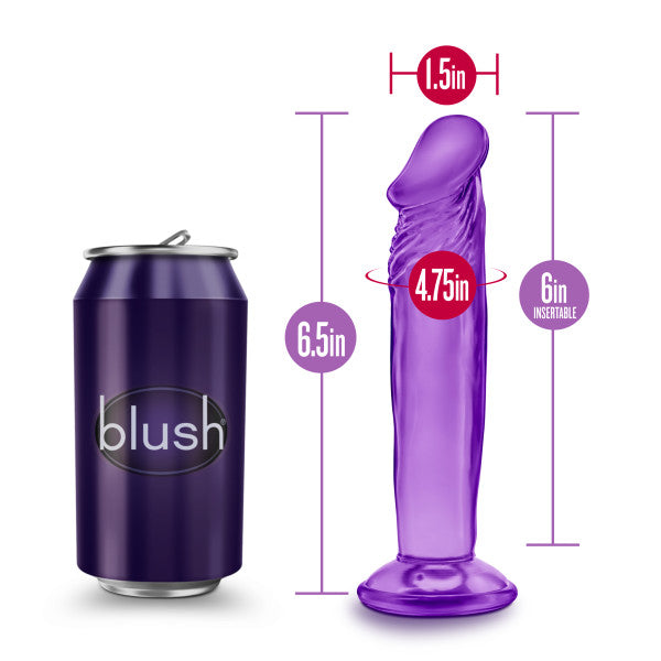 B Yours Sweet N Small 6in Dildo W- Suction Cup Purple - iVenuss