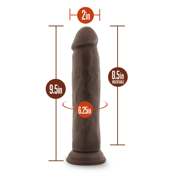 "Dr Skin 9.5 Cock Chocolate "" - iVenuss"
