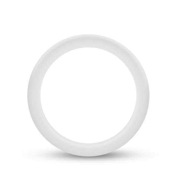 Performance Silicone Glo Cock Ring White Glow - iVenuss