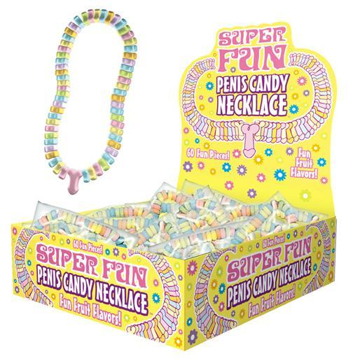 Candy Penis Necklace Display 24pc - iVenuss