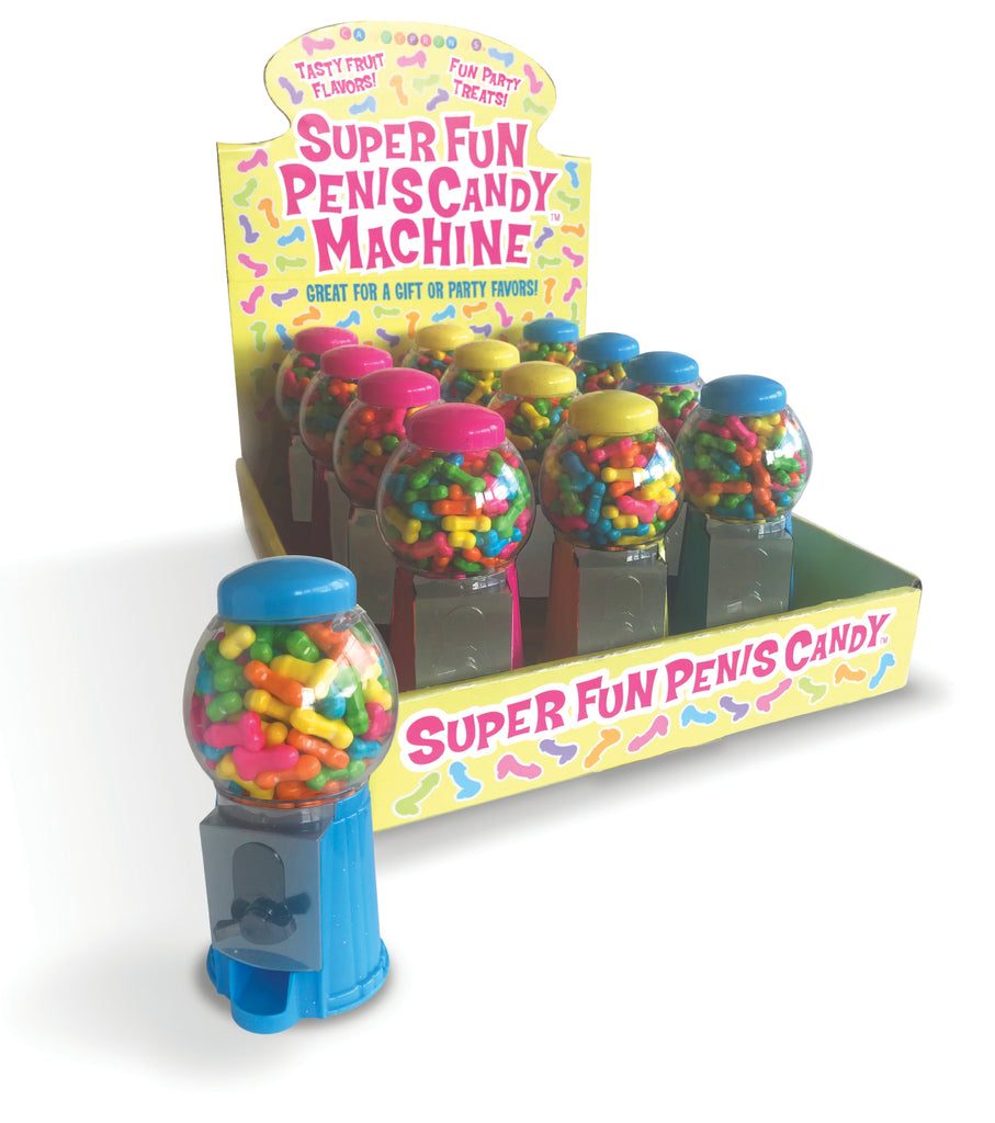 Super Fun Penis Candy Machine Display Of 12 - iVenuss