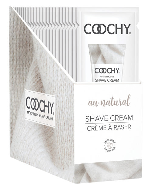 Coochy Shave Cream Au Natural Foil 15ml 24pc Display - iVenuss