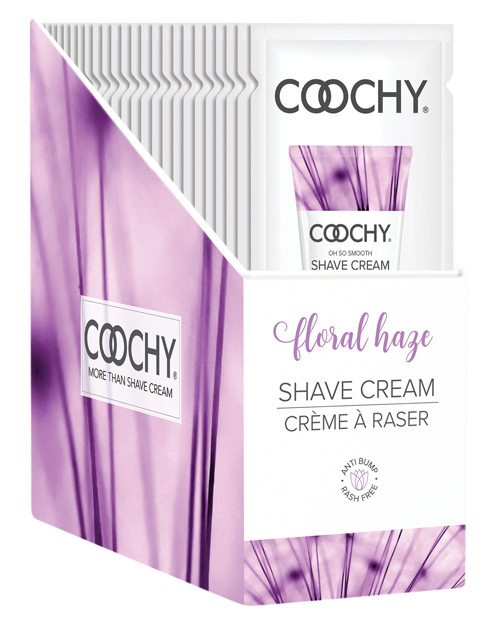 Coochy Shave Cream Floral Haze Foil 15 Ml 24pc Display - iVenuss