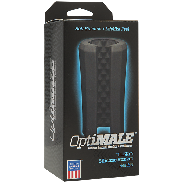 Optimale Silicone Stroker Beaded Black - iVenuss