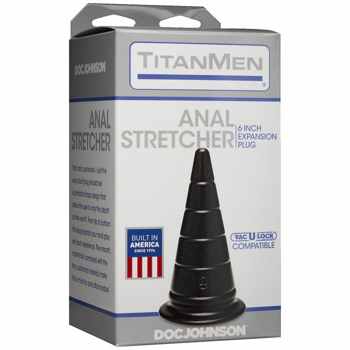 "Titanmen Anal Stretcher 6 Expansion Plug Black "" - iVenuss"