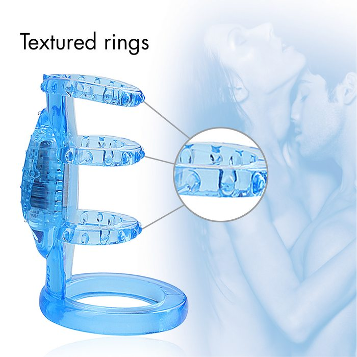 Doctor Love Zinger Vibrating Cock Cage Blue - iVenuss
