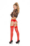 Sheer Thigh Hi Red Queen Size - iVenuss