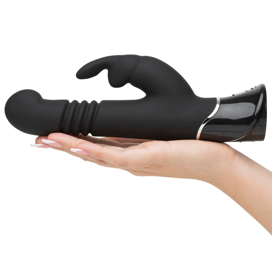 Fifty Shades Of Grey Greedy Girl Rechargeable Thrusting G-spot Rabbit Vibrator - iVenuss