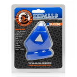 Tri Squeeze Cocksling Ball Stretcher Oxballs Silicone Tpr Blend Cobalt Ice - iVenuss