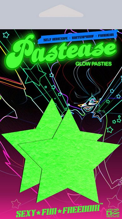 Pastease Glow In The Dark Stars Pasties - iVenuss