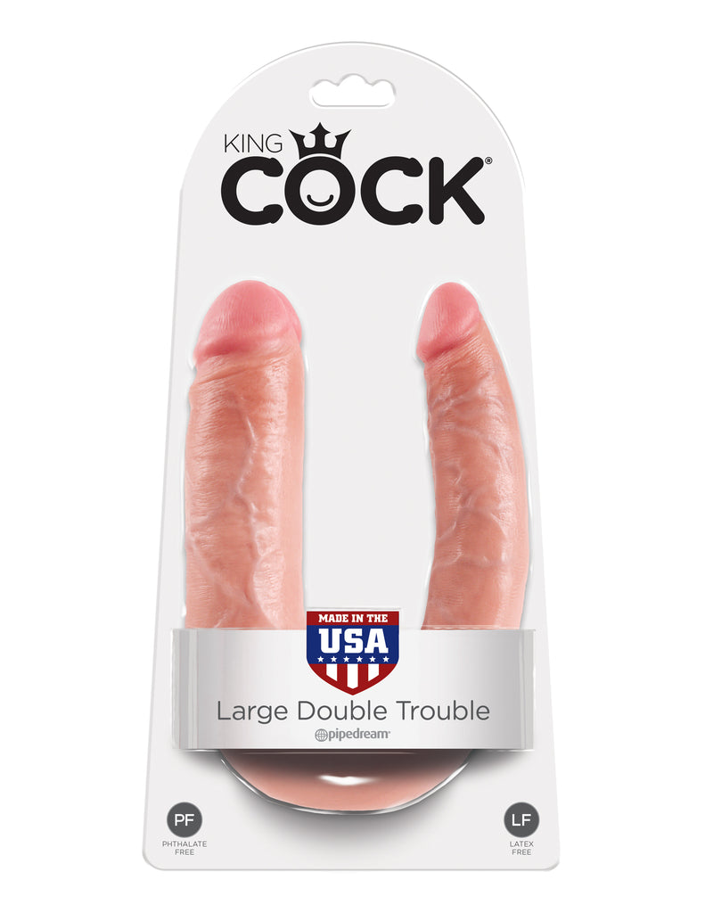 King Cock Double Trouble Large Flesh - iVenuss