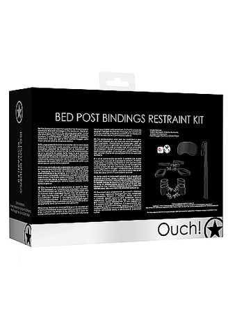 Bed Post Bindings Restraint Kit Black - iVenuss
