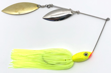 Load image into Gallery viewer, Ledge Hog Classic Head Double Willow Spinner Bait