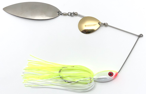 Ledge Hog Classic Head Colorado/Willow Spinner Bait