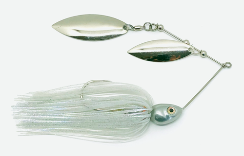 Ledge Hog Shad Head Double Willow Spinner Bait