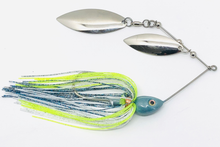 Load image into Gallery viewer, Ledge Hog Shad Head Double Willow Spinner Bait