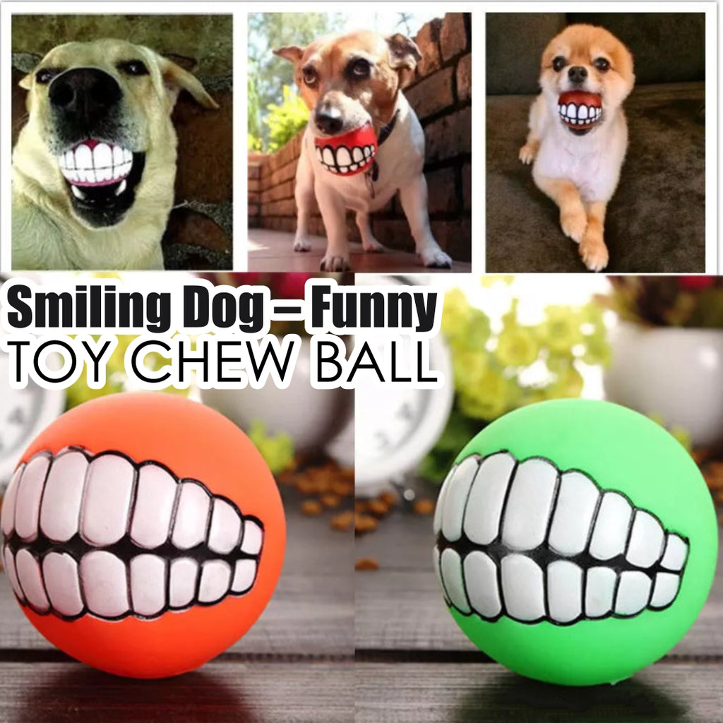 Smiling Dog – Funny Toy Chew Ball