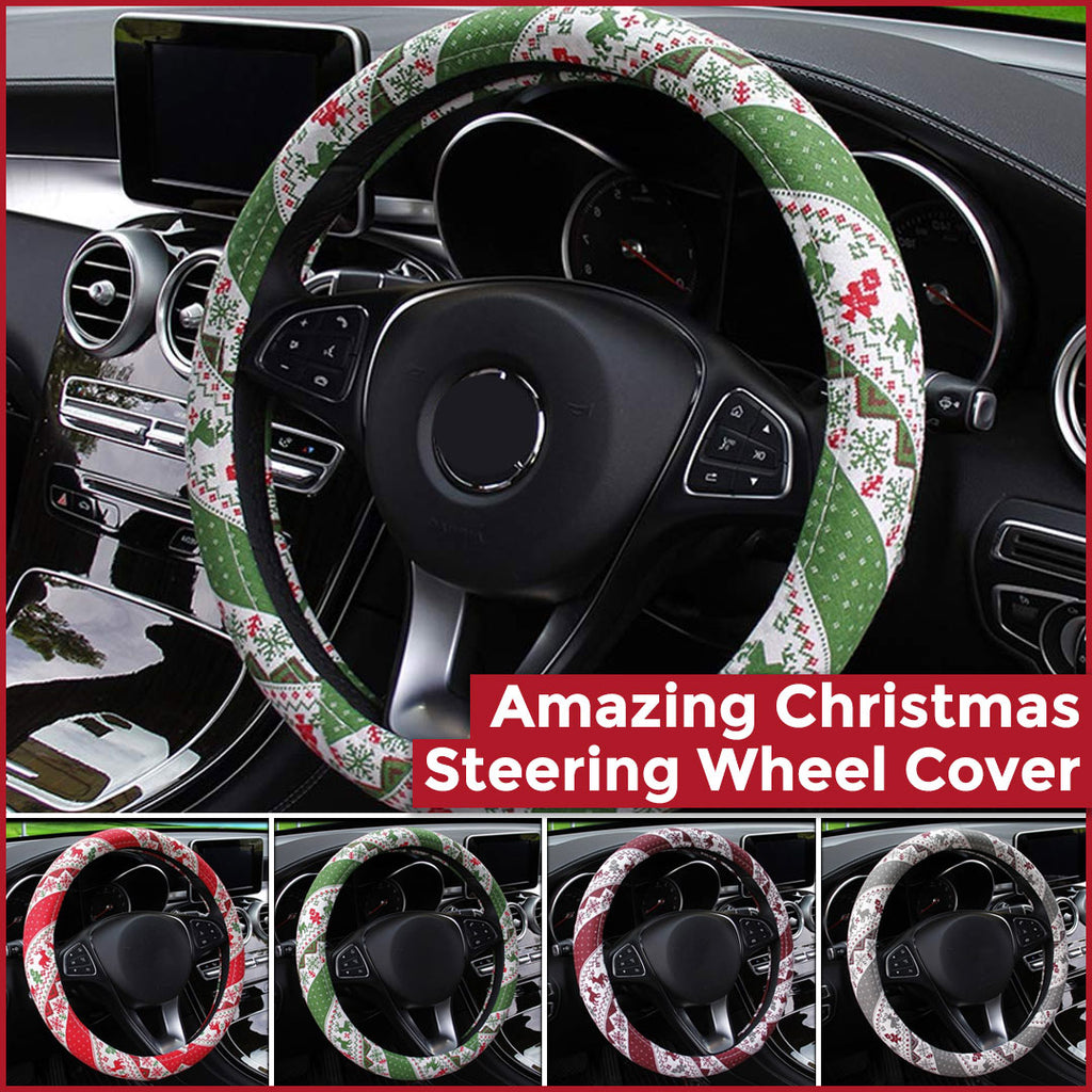Holiyay - Christmas Steering Wheel Cover