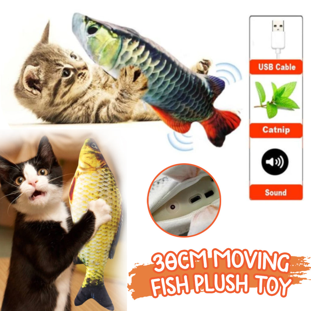 30CM Moving Fish Plush Toy