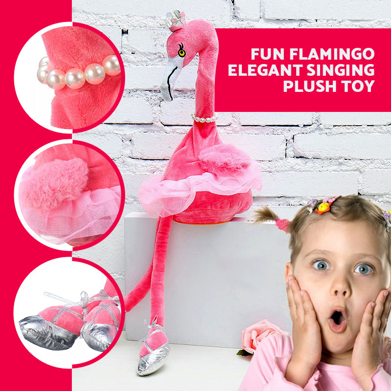 Fun Flamingo Elegant Singing Plush Toy
