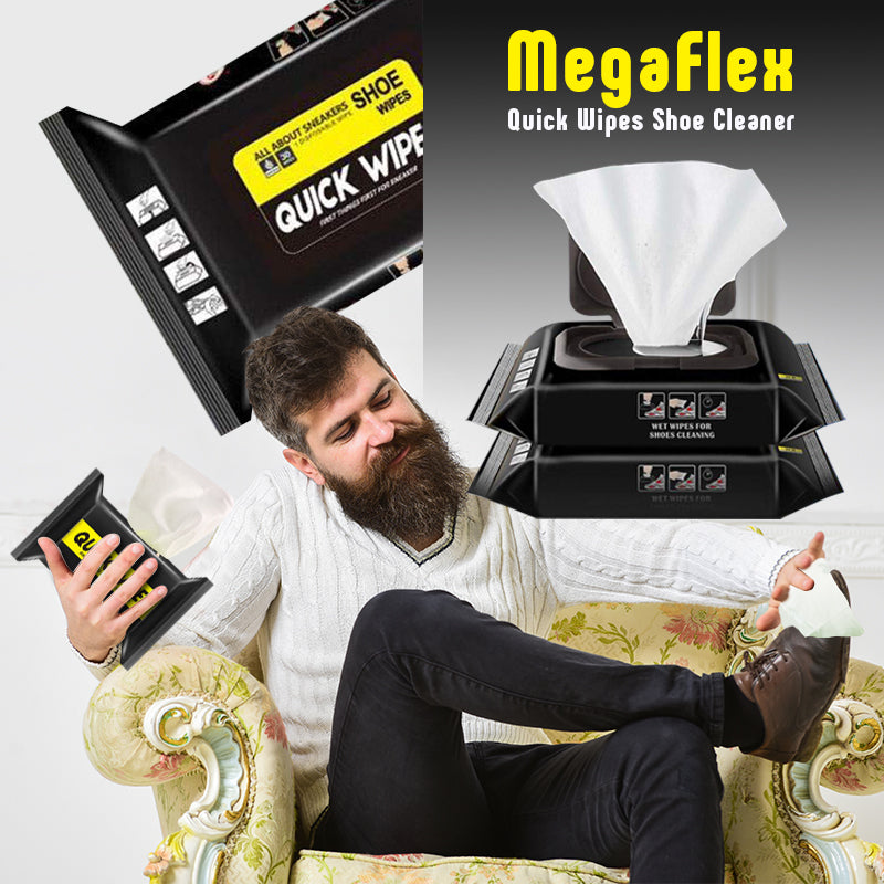 MegaFlex Quick Wipes Shoe Cleaner