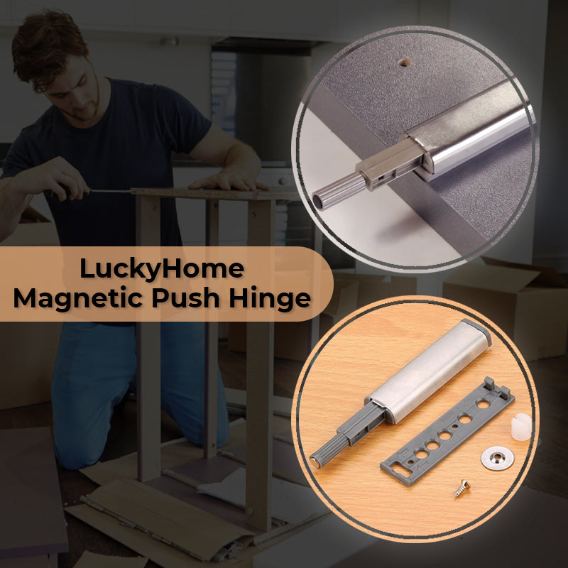 LuckyHome – Magnetic Push Hinge