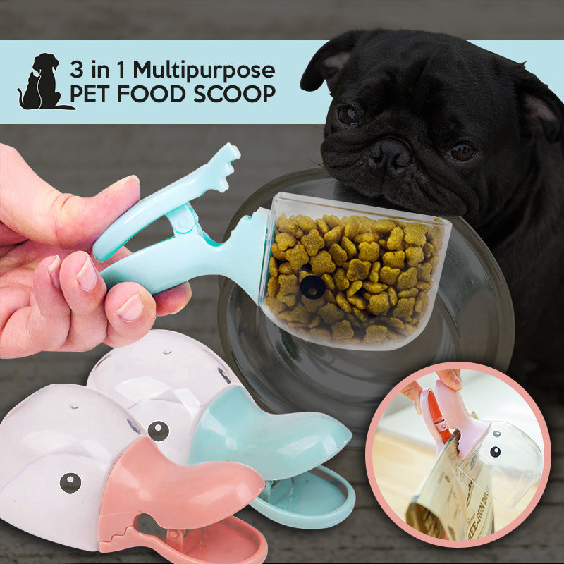 3 in 1 Multipurpose Pet Food Scoop