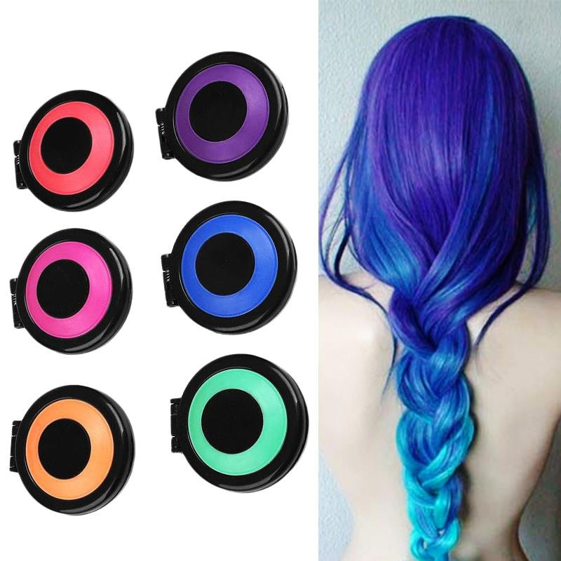 6 Colors Temporary Hair Chalk