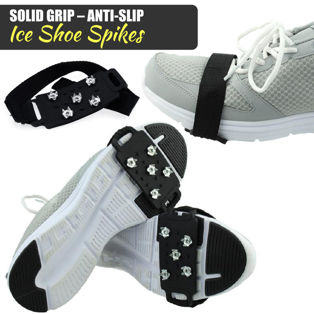 Upgraded Version* Solid Grip – Anti-Slip Ice Shoe Spikes (1 Pair)
