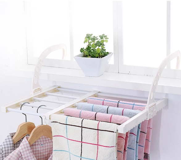 Multi-function drying rack for balcony windows