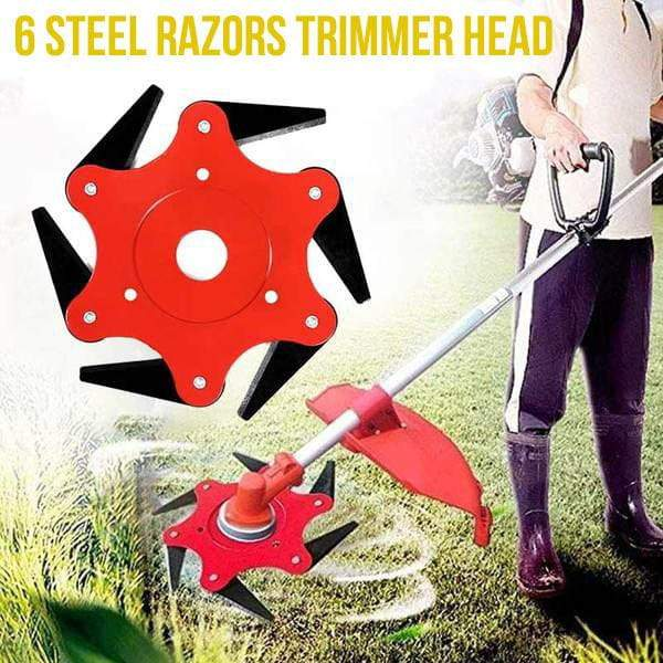 6 Steel Razors Trimmer Head [ LOW STOCK ]