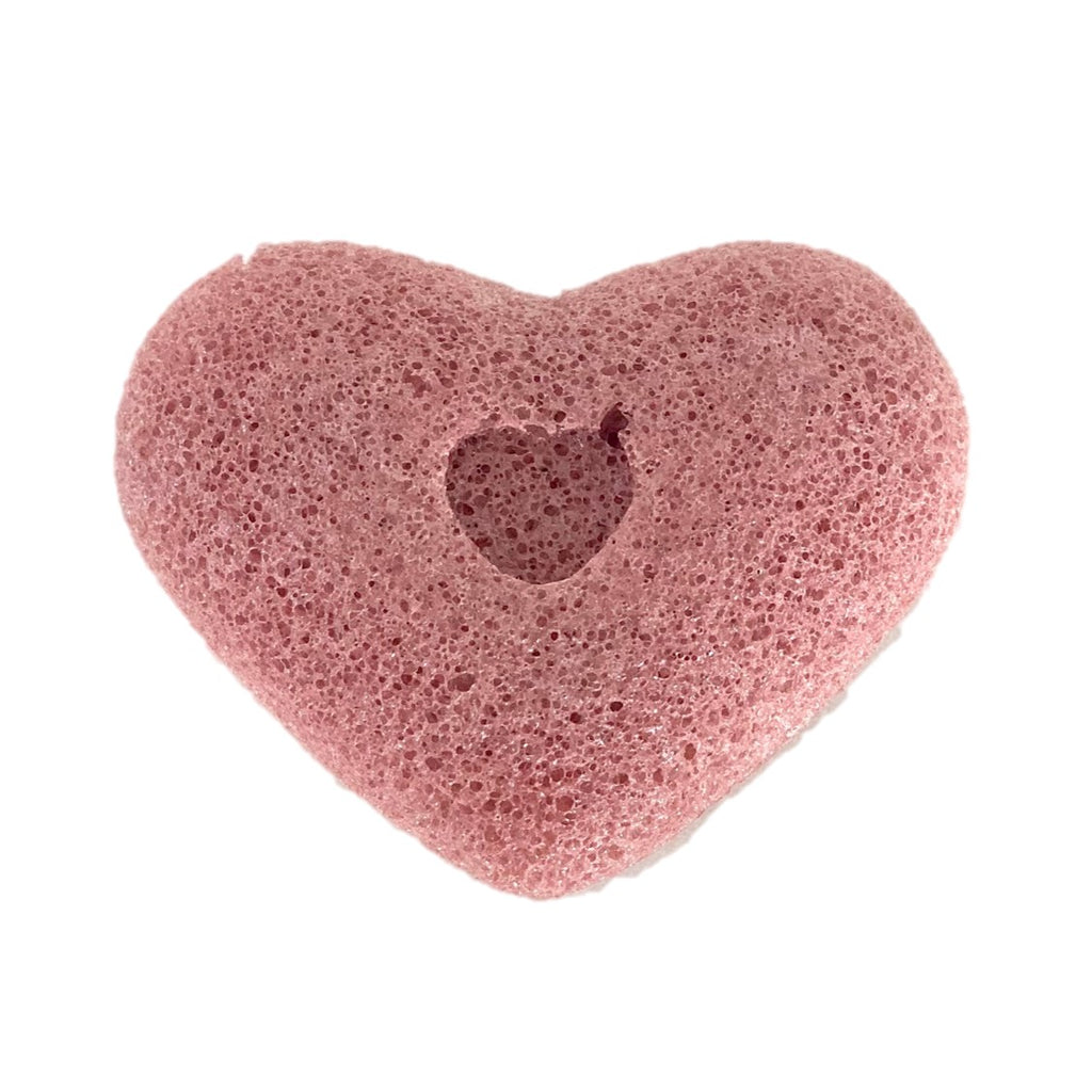 Goodgirl xo Ki Red Clay Heart Shaped Konjac Sponge