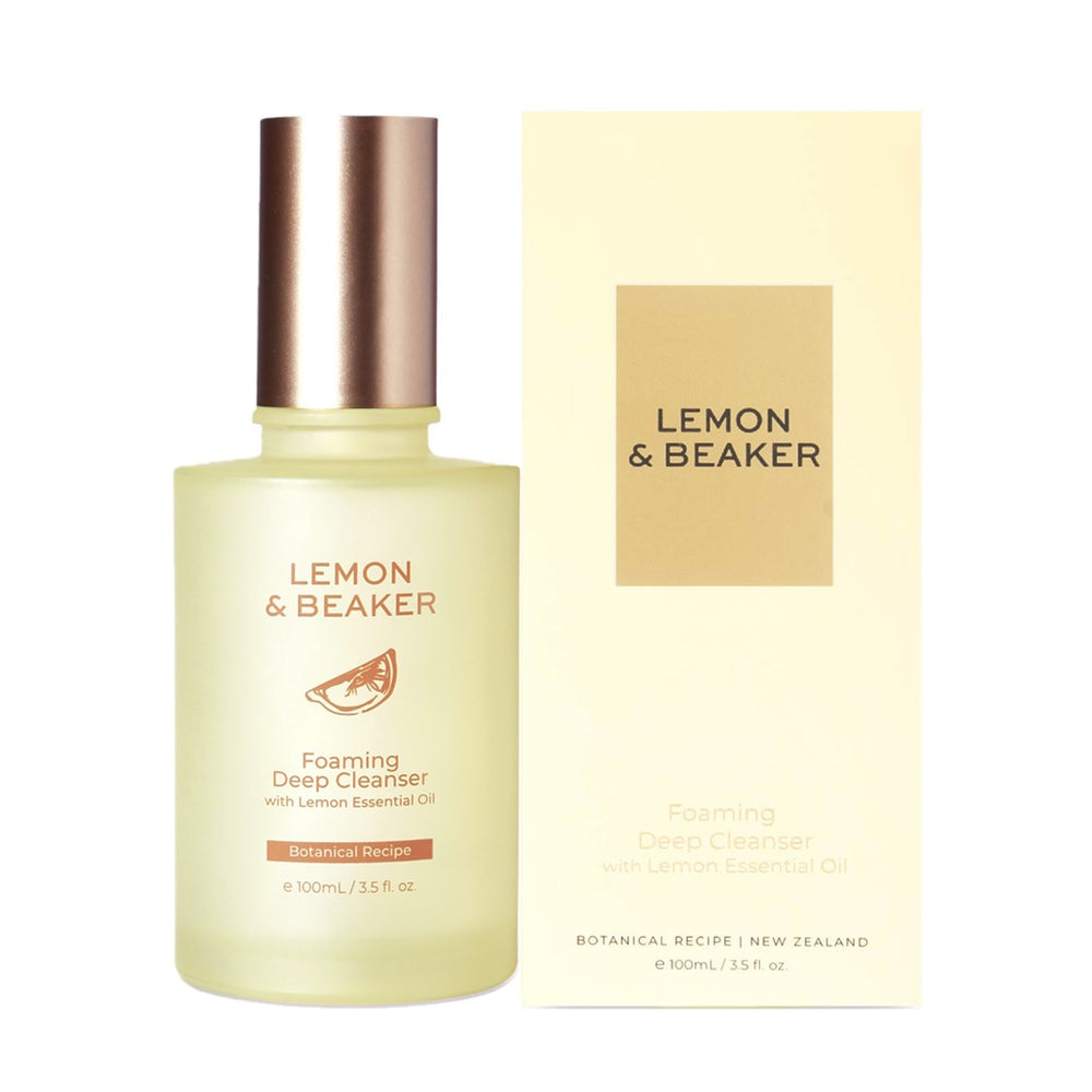 Lemon & Beaker Foaming Deep Cleanser with Lemon Essential Oil