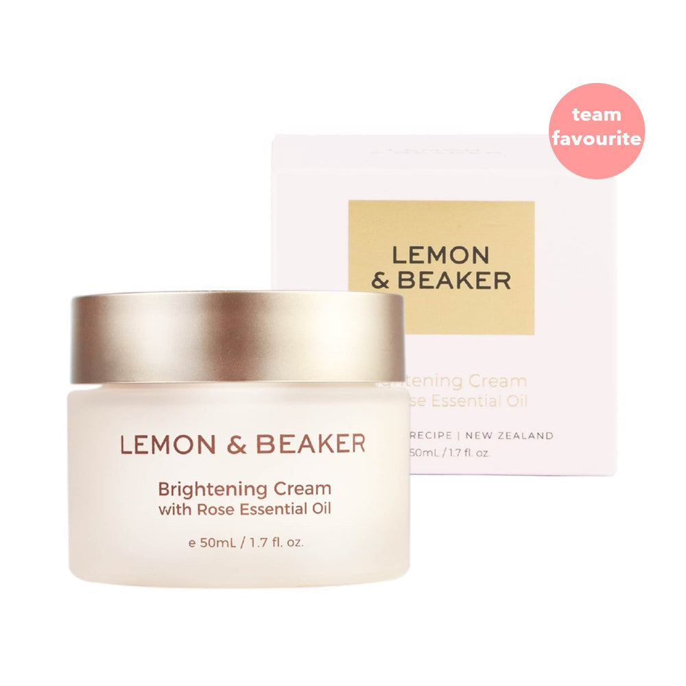 Lemon & Beaker Brightening Cream with Rose Essential Oil