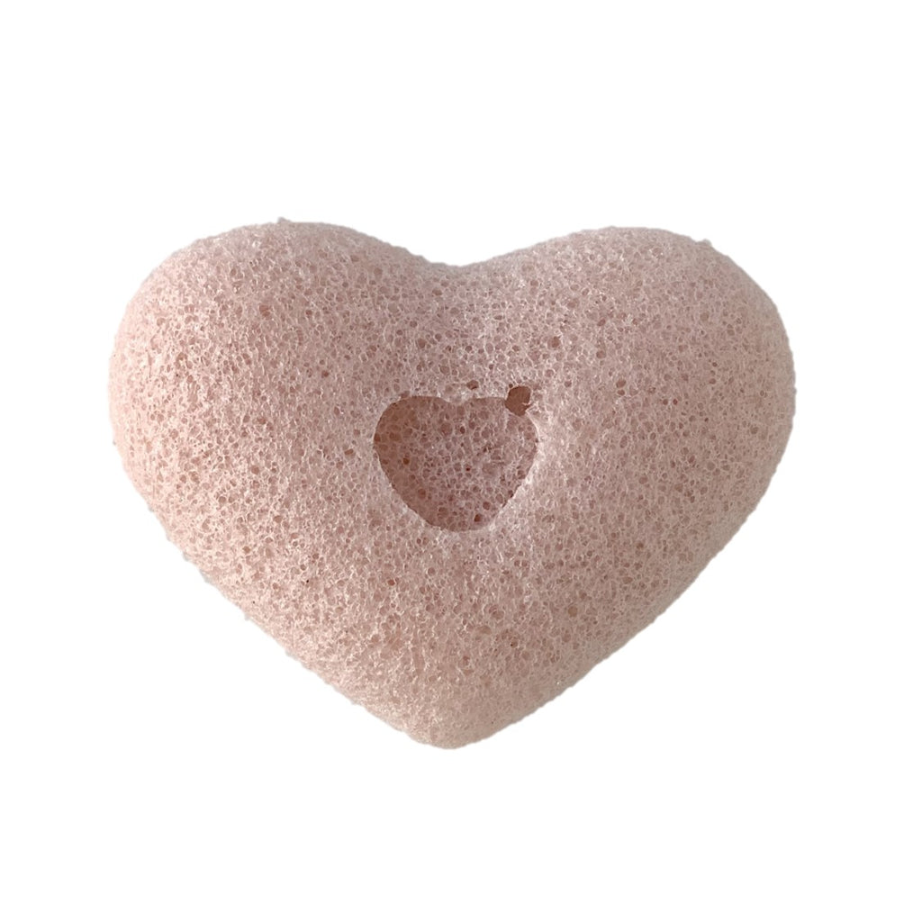 Goodgirl xo Sook Heart Shaped Konjac Sponge with Pink Clay