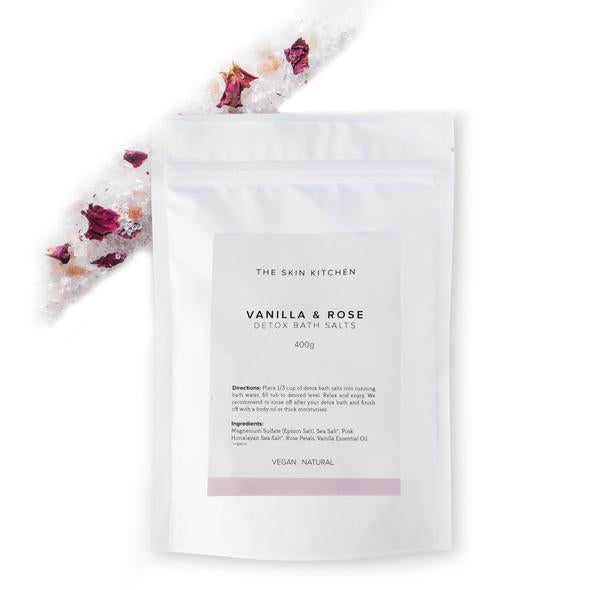 The Skin Kitchen Vanilla + Rose Detox Bath Salts