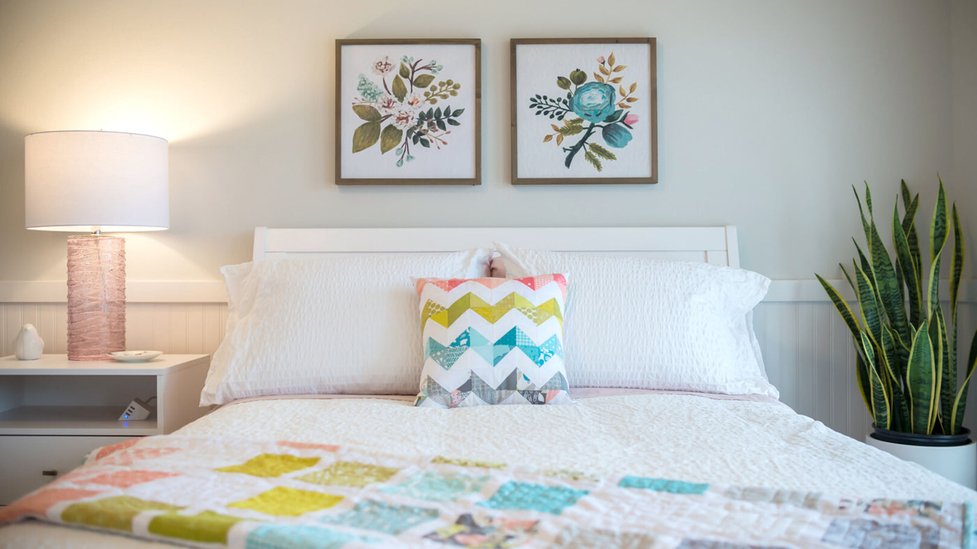 Makers Hideaway Peek At Bed and Room Accents in Finch Bedroom