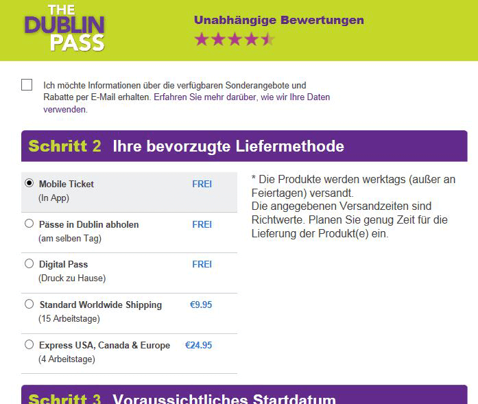 Dein mobiles Ticket in der Dublin Pass App