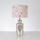 G&H 30cm Cotton Lampshade in Parus Bird Print as a table lamp