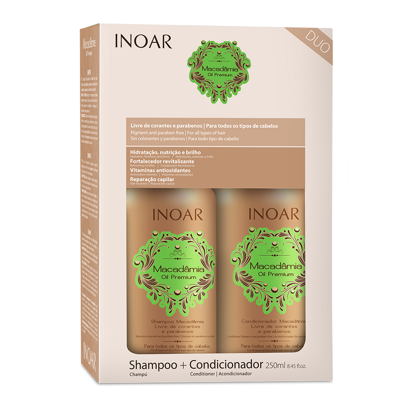 Macadamia kit INOAR - shampoo and conditioner