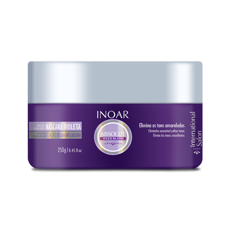 Purple hair mask for shiny blondes