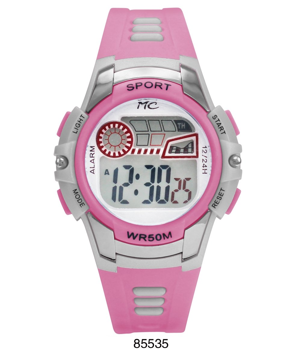 Montres Carlos 5 ATM Light Pink Digital Sports Watch - fashion-beco